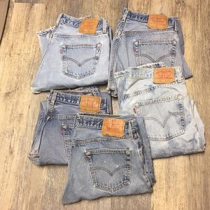 Bundle vintage made USA 501 button down fly Levi